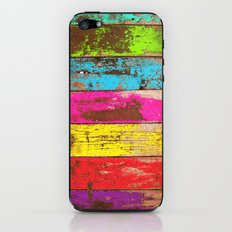 Vintage Colored Wood iPhone & iPod Skin