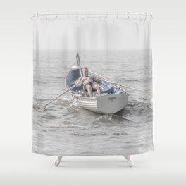 Row, Jersey Shore Shower Curtain