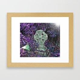 Celtic Gravestone Framed Art Print