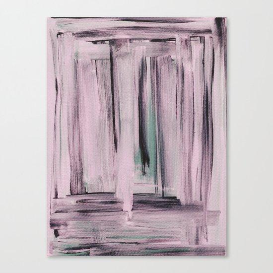 Rose et Vert Canvas Print