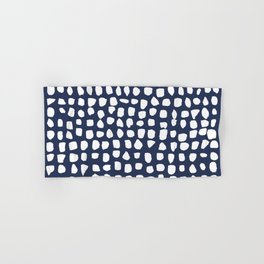 Dots / Navy Hand & Bath Towel
