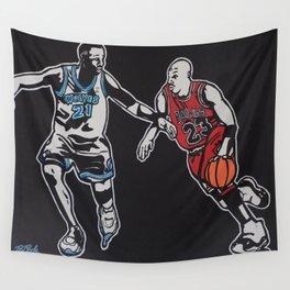 MJ vs. KG Wall Tapestry