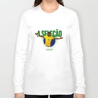 brasil Long Sleeve T-shirts featuring Brasil by Skiller Moves
