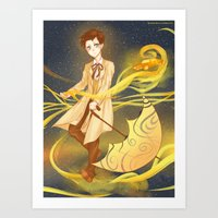 sandman Art Prints featuring sandman by sherryandgin