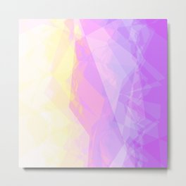 Abstract Geometric design with Unicorn Colors Metal Print