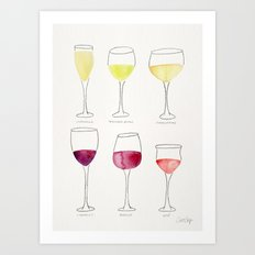 Wine Collection Art Print