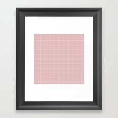 Pink and White Grid ///www.pencilmeinstationery.com Framed Art Print
