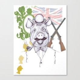 Stately Hog Canvas Print