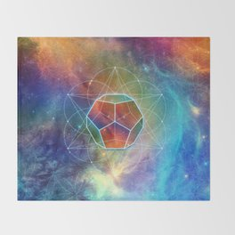 Abstract Sacred Geometry Cosmic Space Tapestry Throw Blanket