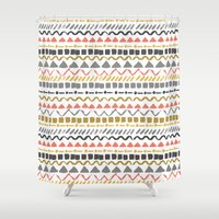 ethnic Shower Curtains featuring Ethnic pattern by Julia Badeeva