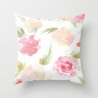 "hawaiian Throw Pillows featuring ""Hawaiian"" by  Tori Wise Watercolors"
