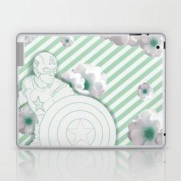 Cap Flowers+ Stripes Laptop & iPad Skin