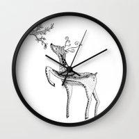 bambi Wall Clocks featuring Bambi by Moran Bazaz