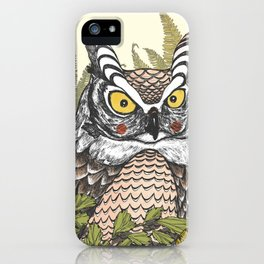 Morning owl iPhone Case