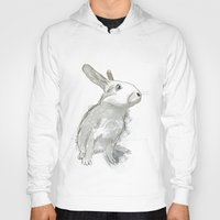 rabbit Hoodies featuring Rabbit by Melissa McGill