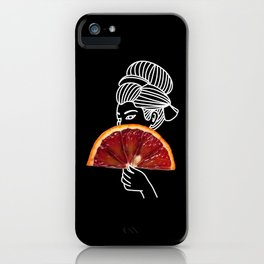 Blood Orange Geisha iPhone Case