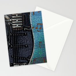 GUITAR BLUES Stationery Cards
