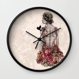 Spring Couture Wall Clock