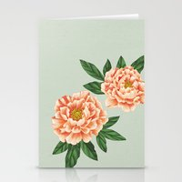 peonies Stationery Cards featuring Peonies by A.Vogler