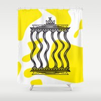 berlin Shower Curtains featuring Berlin by Jan Luzar