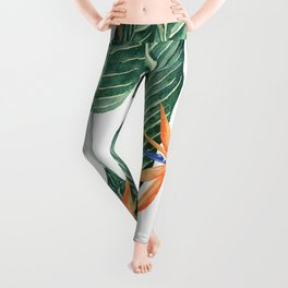 Banana And Flowers #society6 Leggings