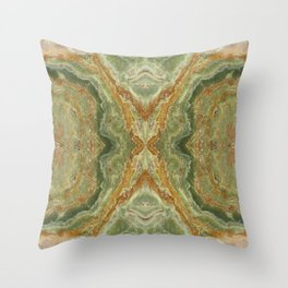 Green Onyx Throw Pillow