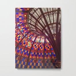 Glass mosaic Metal Print