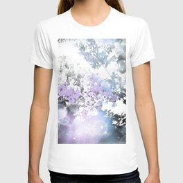 Watercolor Floral Lavender Teal Gray T-shirt