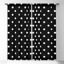 DOTS (WHITE & BLACK) Blackout Curtain