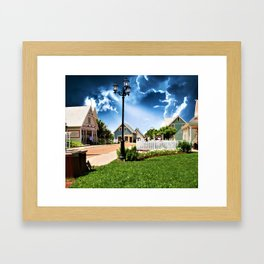 Avonlea Village Under A Dramatic Sky Framed Art Print