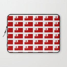 Flag of Tonga -Tonga,Tongatapu,Nukuʻalofa,Tongan,pa'anga,Vava'u, Ha'apai, Tongatapu. Laptop Sleeve