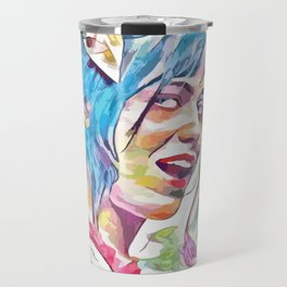 Zooey Deschanel (Creative Illustration Art) Travel Mug