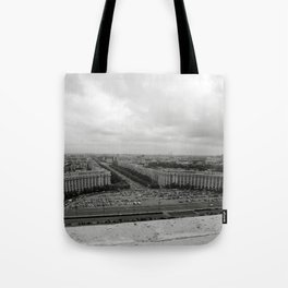 Bird's Eye View of Bucharest, Romania Tote Bag