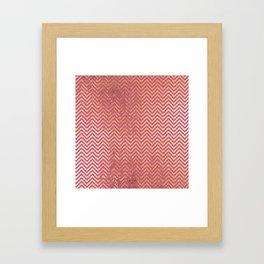 Magenta faux gold elegant chevron geometrical pattern Framed Art Print
