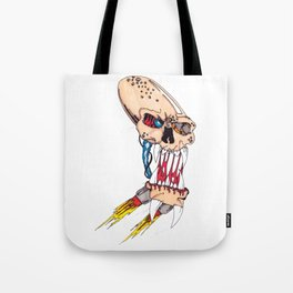 Jet-pack Skull Tote Bag