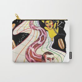 Snake-man and friend in hyper-dimensional curved spacetime Carry-All Pouch