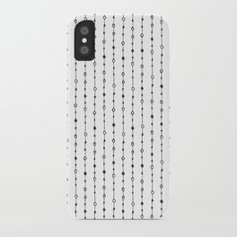 Lines, Dots and Circles - Hand Drawn Illustration, Abstract Pattern iPhone Case
