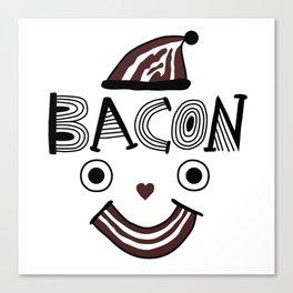 Bacon Face Canvas Print