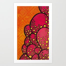 Spotted Lumps Art Print