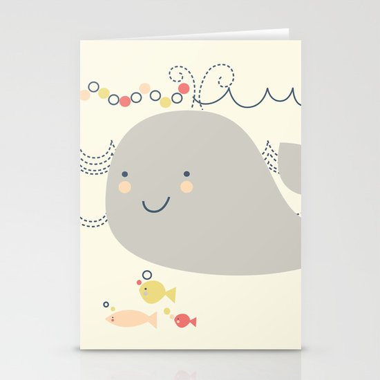 Whaley on the sea Stationery Cards