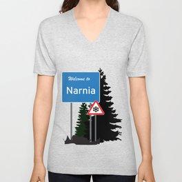 Narnia traffic Unisex V-Neck