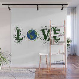 Earth Day Love Mother Earth Wall Mural