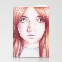 karen Stationery Cards featuring karen gillan by Jill Schell