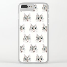 Peek a boo pattern Clear iPhone Case