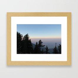 Hazy Days on Mount San Jacinto Framed Art Print
