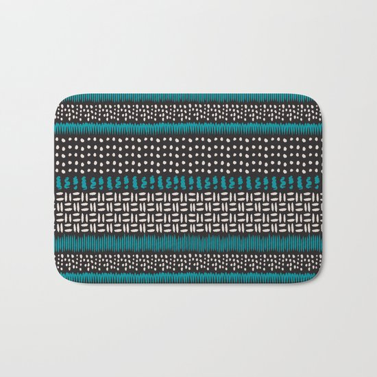 Dots, spots and zigzags pattern Bath Mat