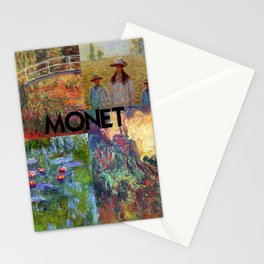 Monet Collage Stationery Cards