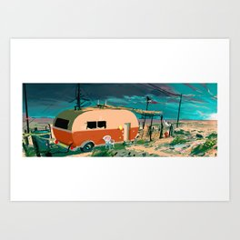 Caravane Art Print