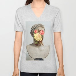 Bust With Flowers Unisex V-Neck
