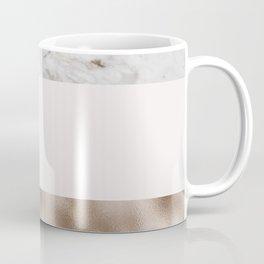 Pastel striping - taupe tones marble & rose gold Coffee Mug